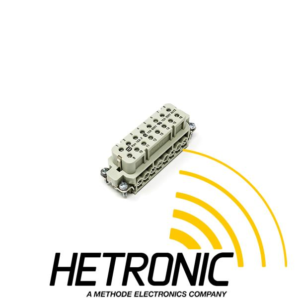 Insert Harting 16pol. + PE Female<br/>Positions 1-16 - HAN 16A / HAN 32A<br/>Screw Termination