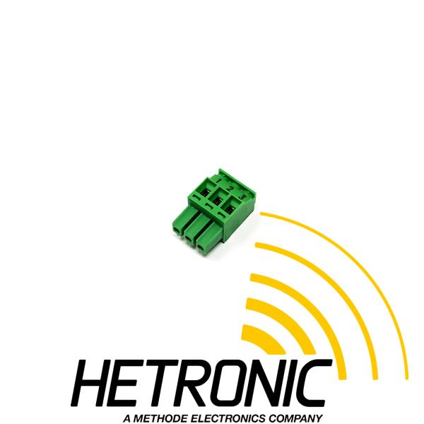 Connector Plug Hman 3pol. Green Female<br/>Angled - Screw Clamp Connection<br/>Use: CAN-HET-2 - With Lettering 1-3<br/><br/>