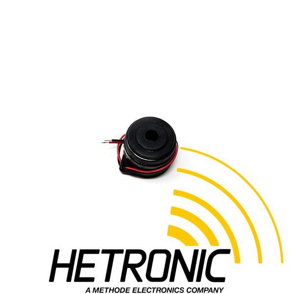 Buzzer 12VDC/3-24VDC Black<br/>90dB/ø29,5mm/Wires L130mm