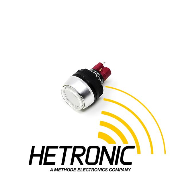Push Button Switch Round Hetronic - 1xNO & 1xNC<br/>ø22mm/Including Rubber Cap